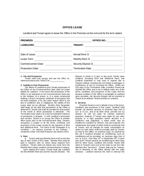 Lease Contract Template 9 Word Pdf Google Docs Documents Download Free Premium Templates Office Agreement Template