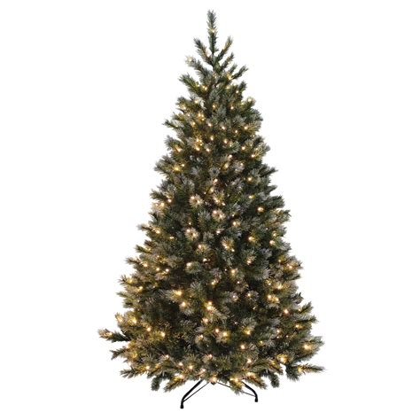 6ft 180cm green glitter christmas tree pre lit warm