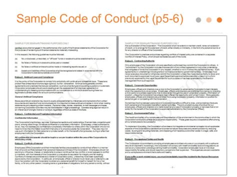 code of conduct exle exle elements for a code of