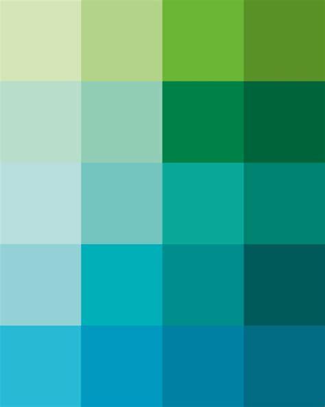 shades dew print pantone color blocks of mint green aqua mint green pantone color and