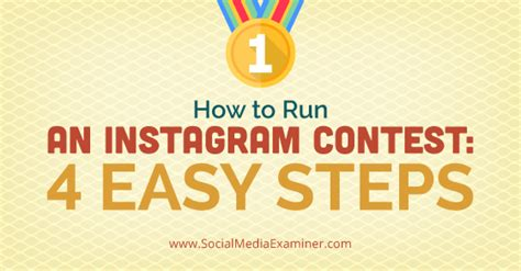 How To Host A Giveaway On Instagram - how to run an instagram contest four easy steps social media examiner