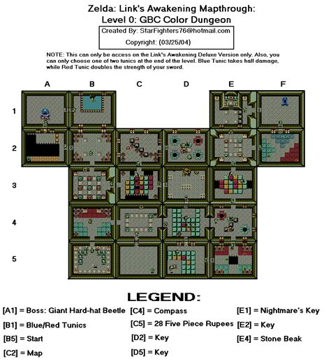 game design document zelda the legend of zelda link s awakening dx level 0 gbc