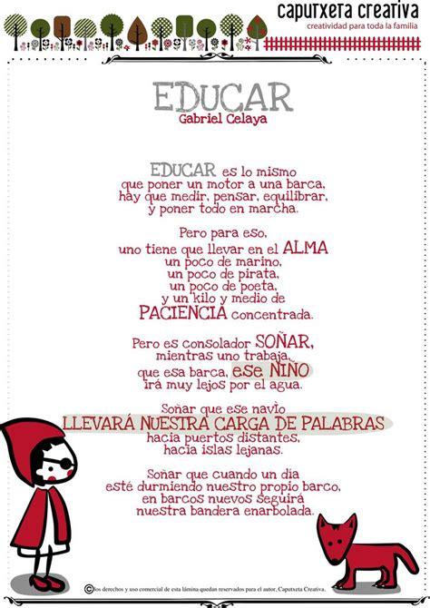 poesia dia del auxiliar de educacion educar poema de gabriel celaya tips sobre educaci 243 n
