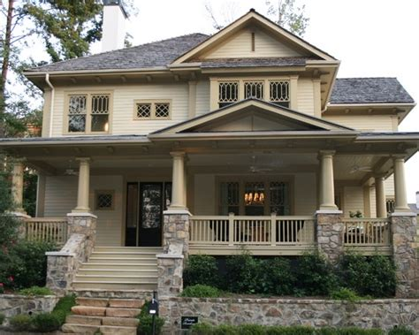 craftsman style porch offset porch peak craftsman style house pinterest