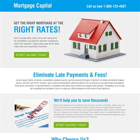 mortgage landing page templates landing page design july 2014