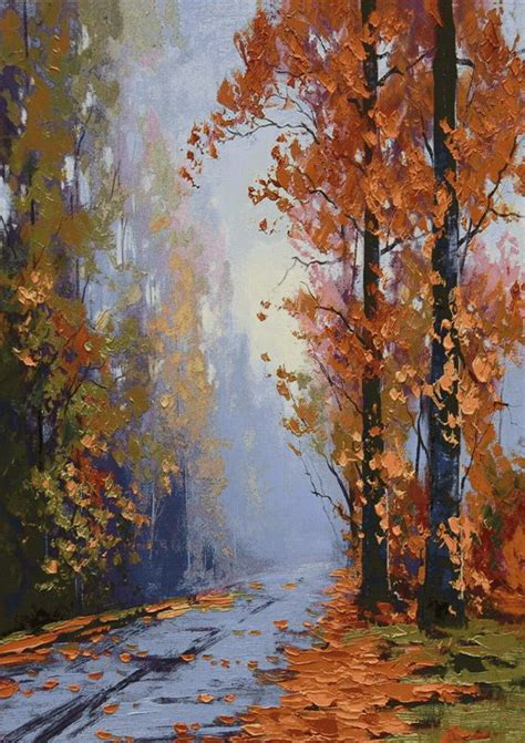 path  autumn forest large landscape tapestry wall