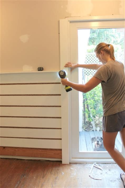 Trim Baseboard our rope and wood accent wall another way to use