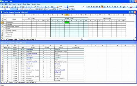 excel league table template exceltemplates