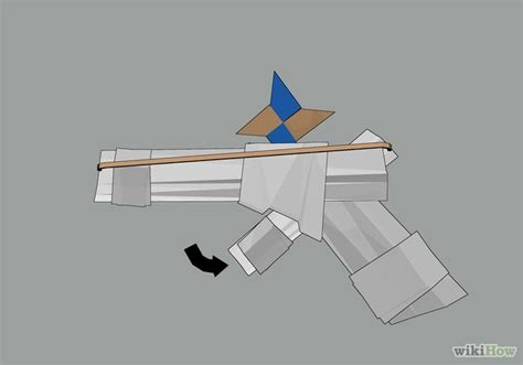 How To Make A Paper Pistol - origami gun comot