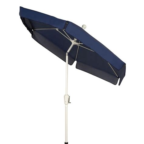Fiberbuilt Umbrellas 7 5 Ft Patio Umbrella In Navy Blue Home Depot Patio Umbrella