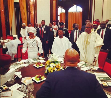inaugural luncheon head table photos president buhari hosts visiting world leaders to