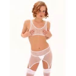 Fishnet crotchless garter panty women s lingerie