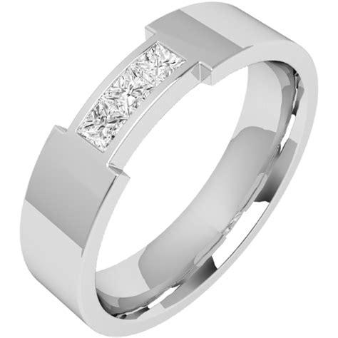 Eheringe Gold Mit 3 Diamanten by Ehering Mit Diamanten Fuer Mann In 18kt Weissgold Mit 3
