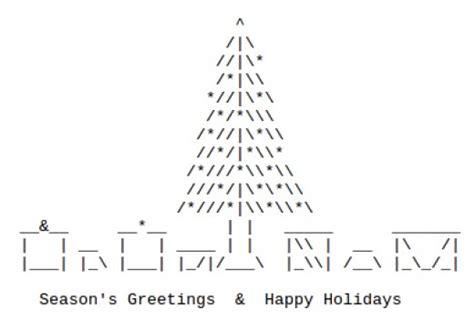 ascii christmas tree trees in ascii text holidappy