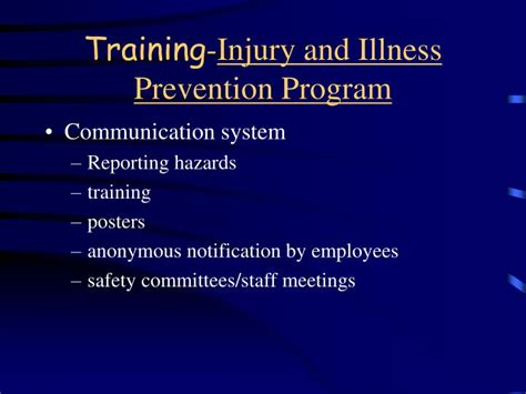 title 8 section 3203 ppt cal osha required training powerpoint presentation