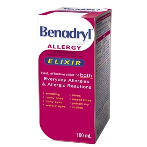liquid benadryl for dogs buy benadryl liquid elixir from canada at well ca free shipping
