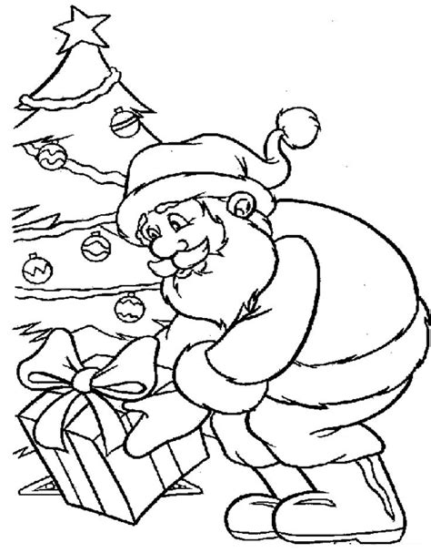 free santa picture coloring pages