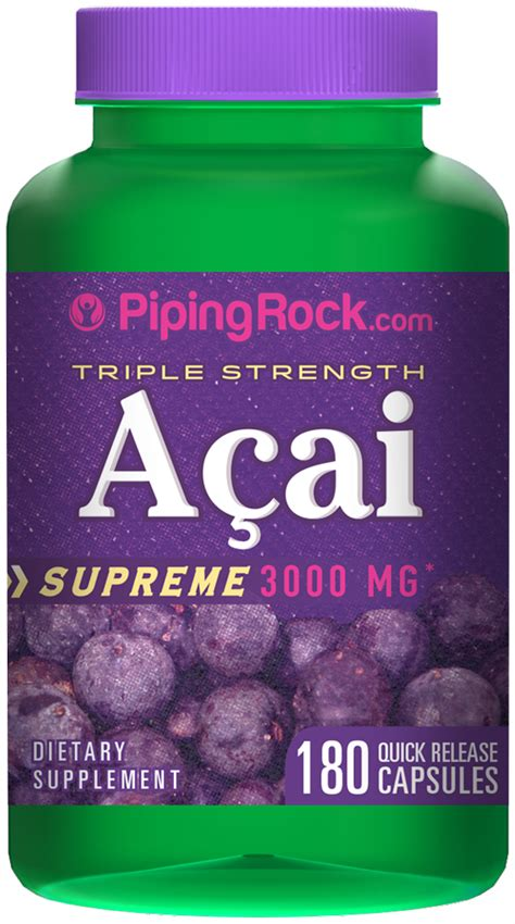 acai berry supreme strength acai 3000 mg supreme 3000 mg 180 capsules