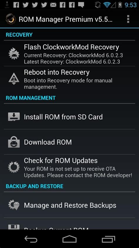 rom manager apk rom manager android apk andy android emulator for pc mac