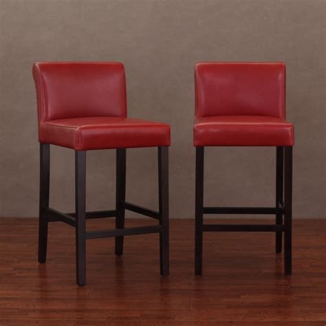 Cosmopolitan Brown Leather Counter Stools by Cosmopolitan Burnt Leather Counter Stools Set Of 2