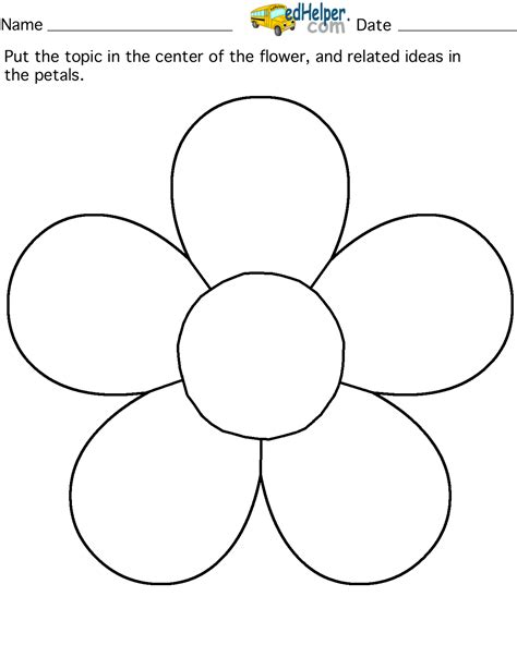 flower drawing templates topic flower 5 petals edhelperclipart www2 server by