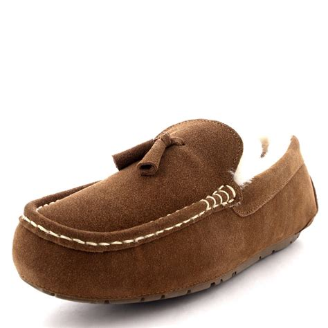 moccasin slippers mens mens moccasins australian suede shoes loafers sheepskin