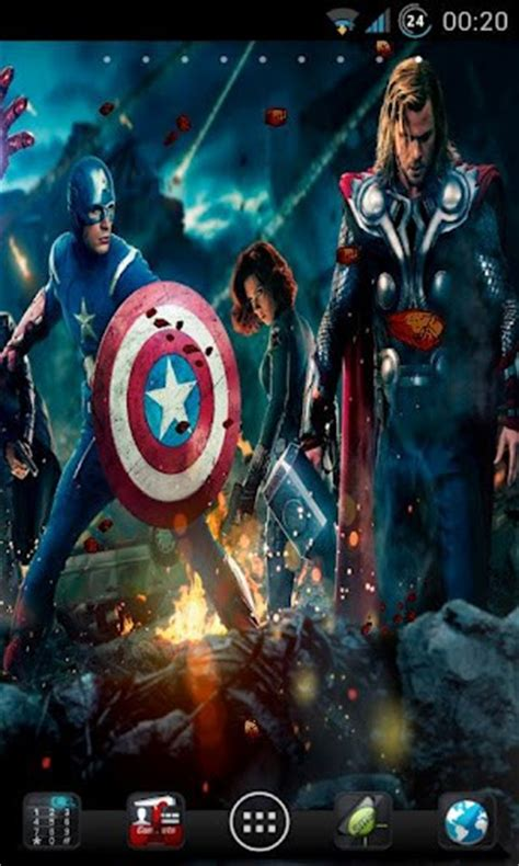 theme line android avengers the avengers live wallpaper app for android