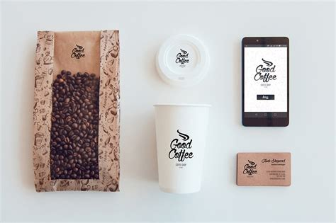 coffee bean design large mug by thecafemarket 9 coffee branding mockup designs psd ai download