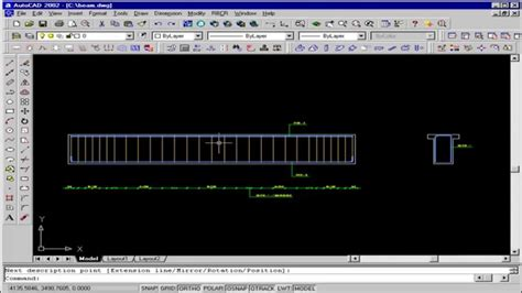 autocad 2011 structural detailing tutorial reinforcement autocad structural detailing beam reinforcement youtube