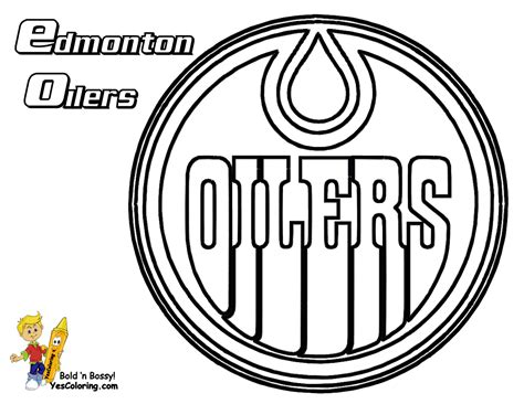 Hockey Coloring Pages Oilers | ice hard hockey coloring pictures nhl hockey west ice