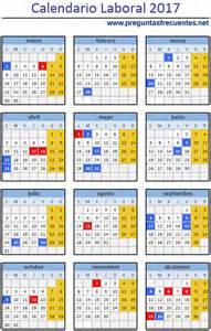 Calendario Bancario 2017 Calendario Laboral Y D 237 As Festivos De 2017 Los Mejores