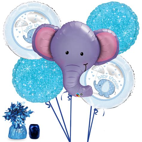 Elephant Baby Shower Balloons elephant baby shower boy balloon bouquet kit ebay