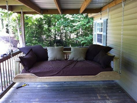 how to build a daybed swing learn how to build your own hanging day bed swing your