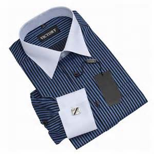 fashion stylish stripe brand dress shirts men long sleeve