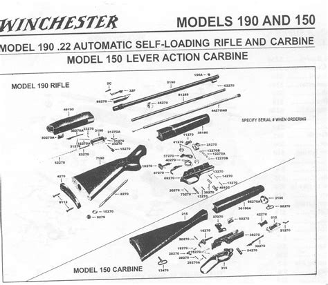 Winchester Model 270 Parts Diagram where can i find a picture of a winchester 22 rifle model