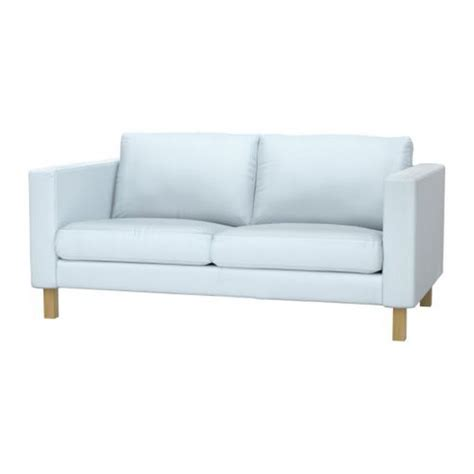 Modern Sofa Cover Ikea Karlstad Loveseat Slipcover 2 Seat Sofa Cover Sivik Light Blue Mid Century Modern
