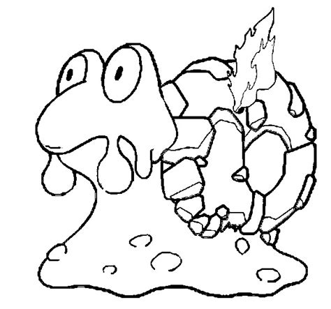 morning kids net coloring pages pokemon coloring pages pokemon magcargo drawings pokemon