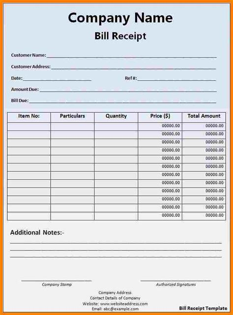 Business Receipt Book Template by 9 Bill Book Template In Word Sle Travel Bill