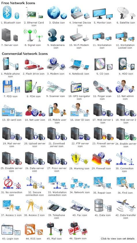 network icon set  information    devcom