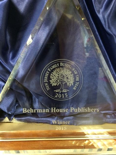 Behrman House by Behrman House Named 2015 New Jersey Family Business Of The Year Behrman House Publishing