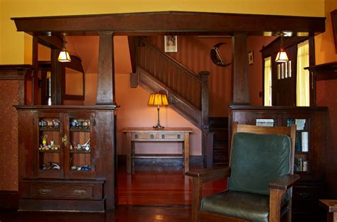 craftsman bungalow interior pasadena bungalow with original woodwork library table