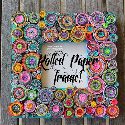 Paper Crafts: Recycled Paper Roll Features Photo Frame