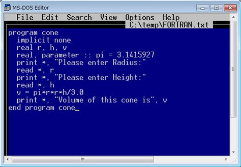 microsoft editor dos editor in windows 10