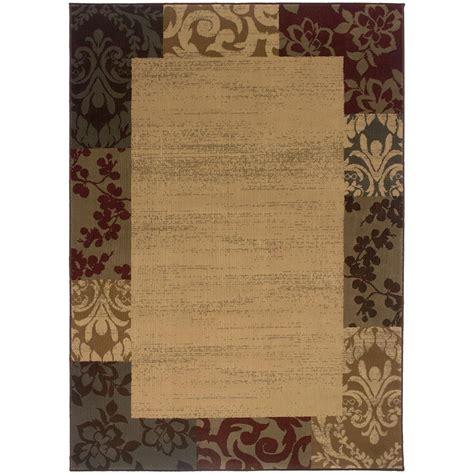 10 x 13 beige modern rug home decorators collection veneer beige multi 10 ft x 13