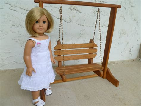 swing dolls doll girl thrift store find a porch swing for dolls