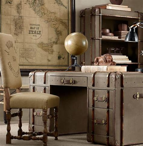 steamer trunk desk travel inspiration while you work