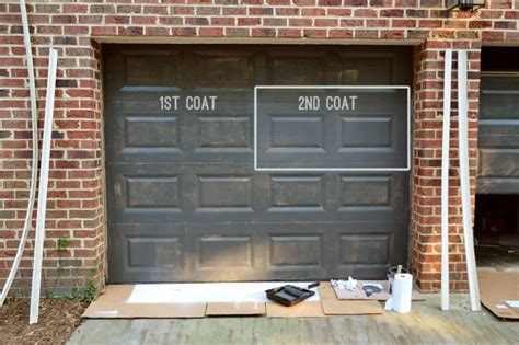Painting Our Garage Doors A Richer Deeper Color Young Garage Door Paint Colors