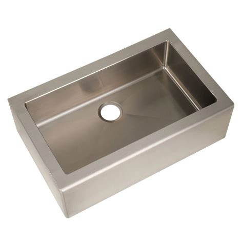 Home Depot Kitchen Sinks Stainless Steel Astracast Farmhouse Apron Front Stainless Steel 33 In Single Bowl Kitchen Sink As Ap10lxusum