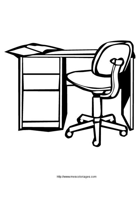 dessin de bureau coloriage objets de la maison meubles 224 colorier
