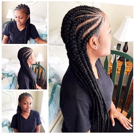female latest tiny braids mixed with ghana weaving cornrows for black women everything hair pinterest
